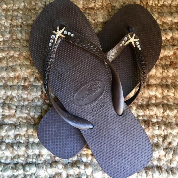 cb0aba005de9d2 Havaianas Shoes - Embellished Havaianas Flip Flops
